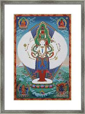 Avalokiteshvara Lord Of Compassion Framed Print by Sergey Noskov