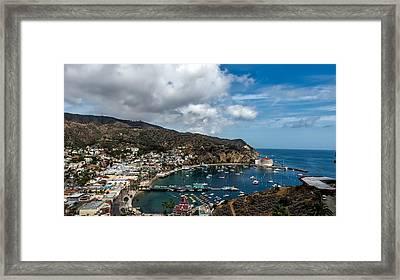 Avalon Harbor - Catalina Island Framed Print by Mountain Dreams