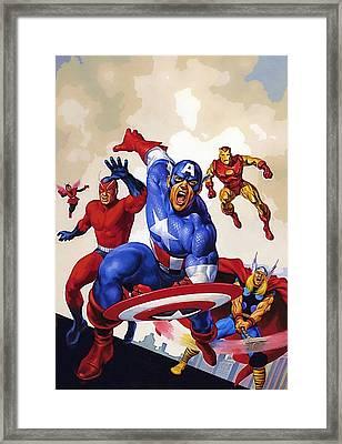 Avengers 1 Framed Print by Egor Vysockiy