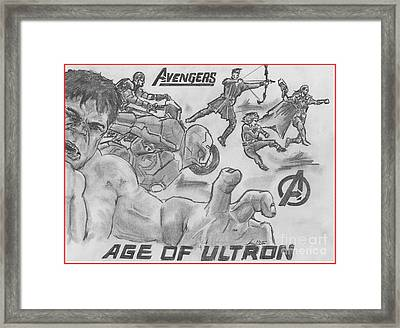 Avengers Age Of Ultron Framed Print by Chris  DelVecchio