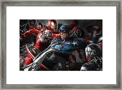 Avengers Collection Framed Print by Marvin Blaine