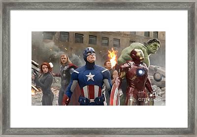 Avengers Framed Print by Paul Tagliamonte