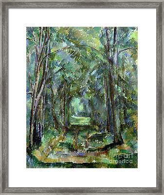 Avenue At Chantilly Framed Print by Paul Cezanne