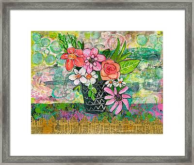 Avery Daisy Flower Framed Print by Blenda Studio