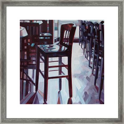 Avida Seat Framed Print by Penelope Moore