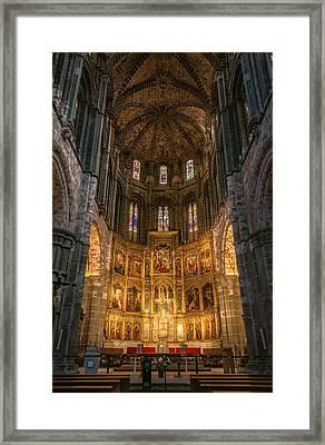 Avila Cathedral Framed Print by Joan Carroll