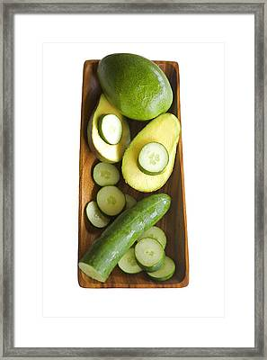 Avocado And Cucumbers II Framed Print by Kicka Witte - Printscapes
