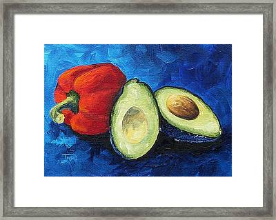 Avocado And Pepper  Framed Print by Torrie Smiley