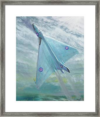 Avro Vulcan B1 Night Flight Framed Print by Vincent Alexander Booth