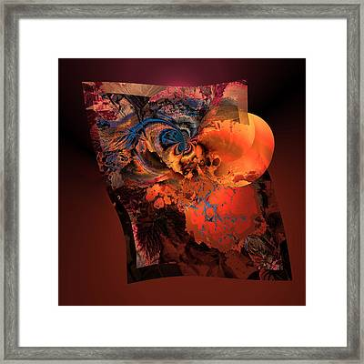Aw 1 Cosmic Ovulation Framed Print by Claude McCoy