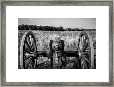 Awaiting The Advance Bw Framed Print by James Barber