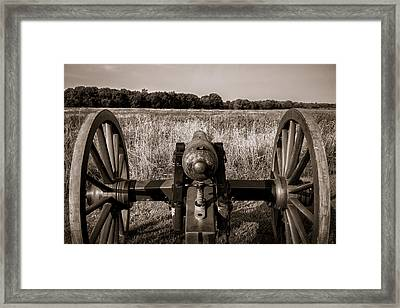 Awaiting The Advance  Framed Print by James Barber