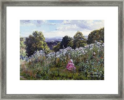Away From Home Into A World Of Her Own Framed Print by MotionAge Designs