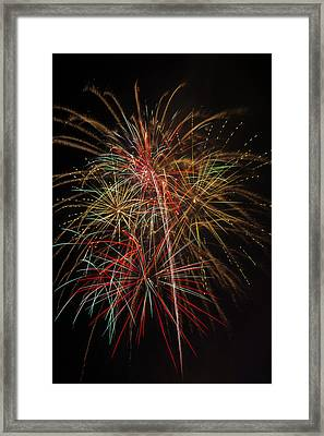 Awesome Amazing Fireworks Framed Print by Garry Gay