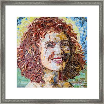 Ayala Mosaic Framed Print by Adriana Zoon