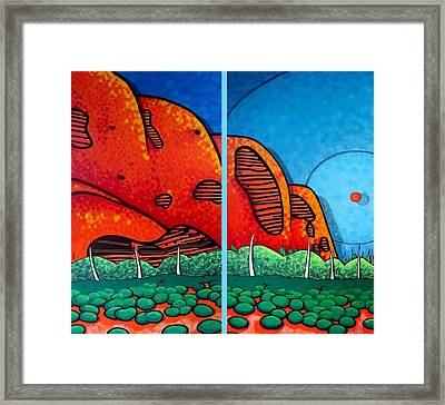 Ayers Rock Cave Framed Print by Jason Charles Allen