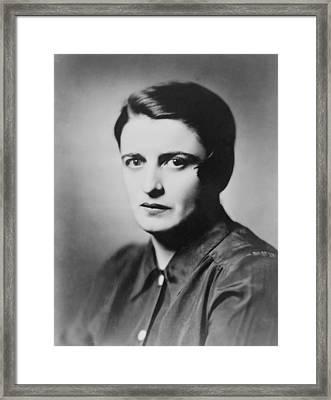 Ayn Rand 1905-1982 Russian Born Framed Print by Everett