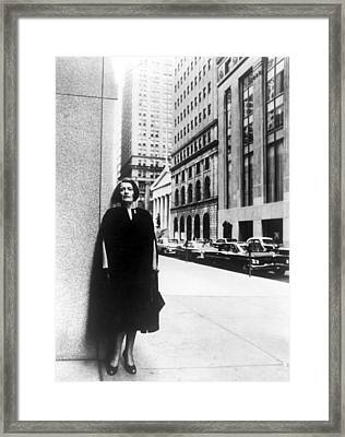 Ayn Rand Author Of Capitalism The Framed Print by Everett