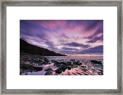 Ayrshire Sunset - Scotland Framed Print by Rod McLean