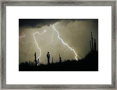 Az Desert Storm Framed Print by James BO  Insogna