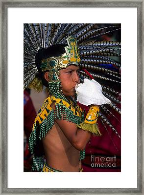 Pow Wow Aztec Tradition Framed Print by Bob Christopher