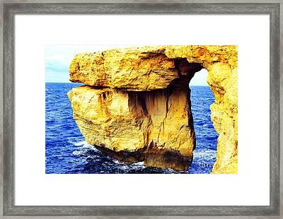 Azure Window Island Of Gozo Framed Print by Thomas R Fletcher
