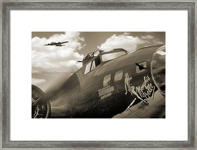 B - 17 Memphis Belle Framed Print by Mike McGlothlen
