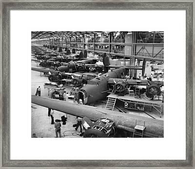 B-24 Liberator Bombers Nearing Framed Print by Everett
