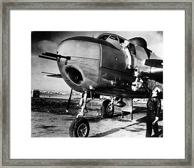 B-25 Mitchell Bomber, Used Framed Print by Everett