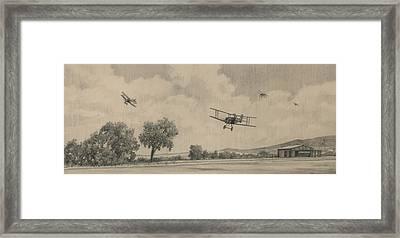 B Flights Back Framed Print by Wade Meyers