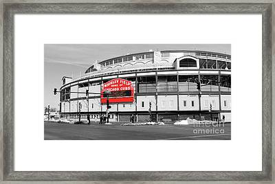 B-w Wrigley 100 Years Young Framed Print by David Bearden