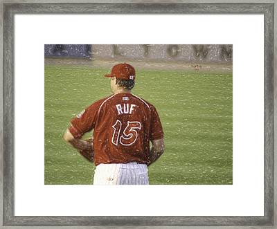 Babe Ruf Framed Print by Trish Tritz