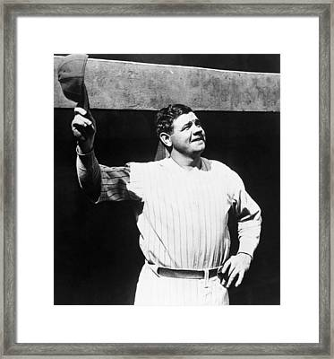 Babe Ruth 1895-1948, American Baseball Framed Print by Everett