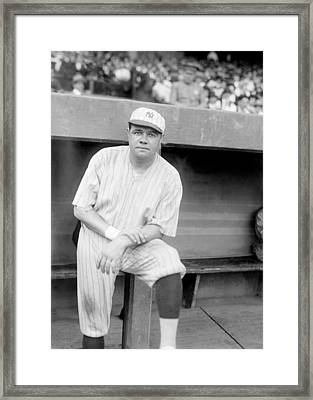 Babe Ruth, 1921 Framed Print by Everett