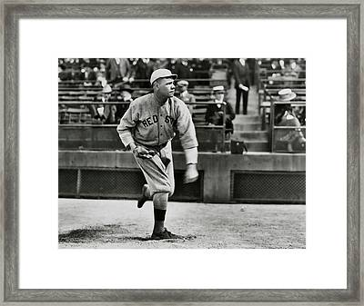 Babe Ruth - Pitcher Boston Red Sox  1915 Framed Print by Daniel Hagerman