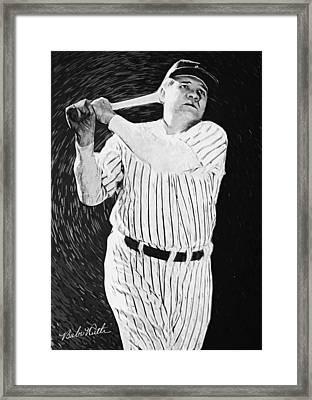 Babe Ruth Framed Print by Taylan Soyturk
