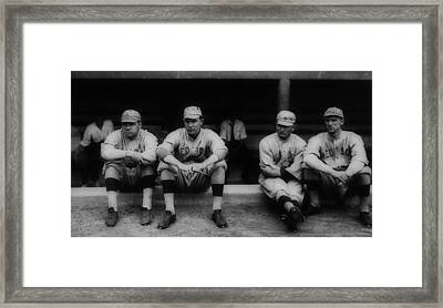Babe Ruth With The Red Sox Framed Print by Mountain Dreams