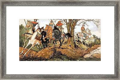 Babes In The Wood Framed Print by Jesus Blasco