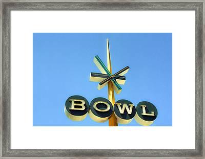 Baby Blue Bowl Framed Print by Matthew Bamberg