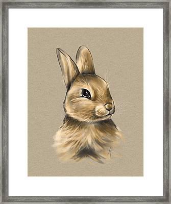 Baby Bunny Framed Print by Veronica Minozzi