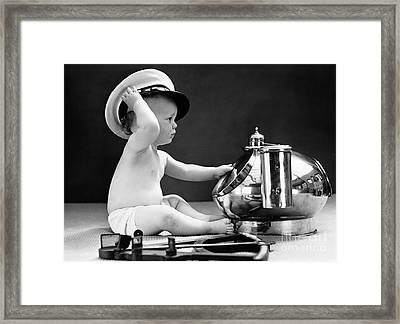 Baby Captain, 1940s Framed Print by H. Armstrong Roberts/ClassicStock