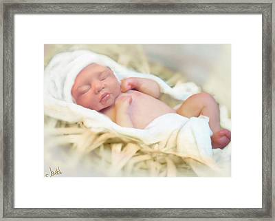 Baby Jesus Framed Print by Jennifer Hickey