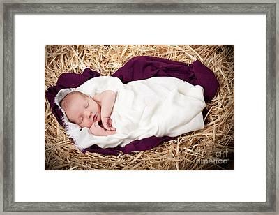 Baby Jesus Nativity Framed Print by Cindy Singleton