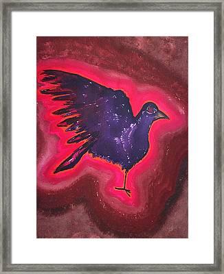 Baby Phoenix Original Painting Framed Print by Sol Luckman