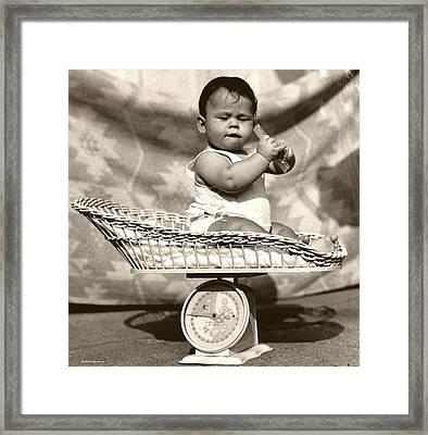 Baby Scale Framed Print by Daniel Napoli