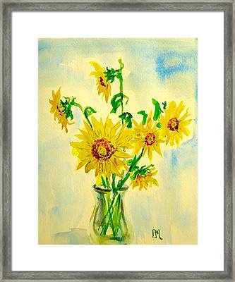 Baby Sunflowers Framed Print by Pete Maier