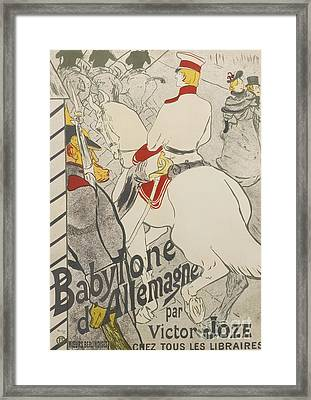 Babylon Framed Print by Henri de Toulouse