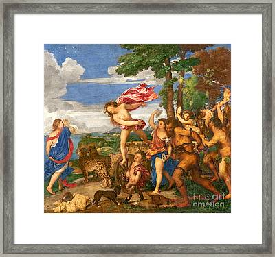 Bacchus And Ariadne Framed Print by Titian