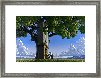 Bach In Heaven Framed Print by Jonathan Day