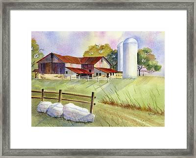 Back A Country Lane Framed Print by Marsha Elliott